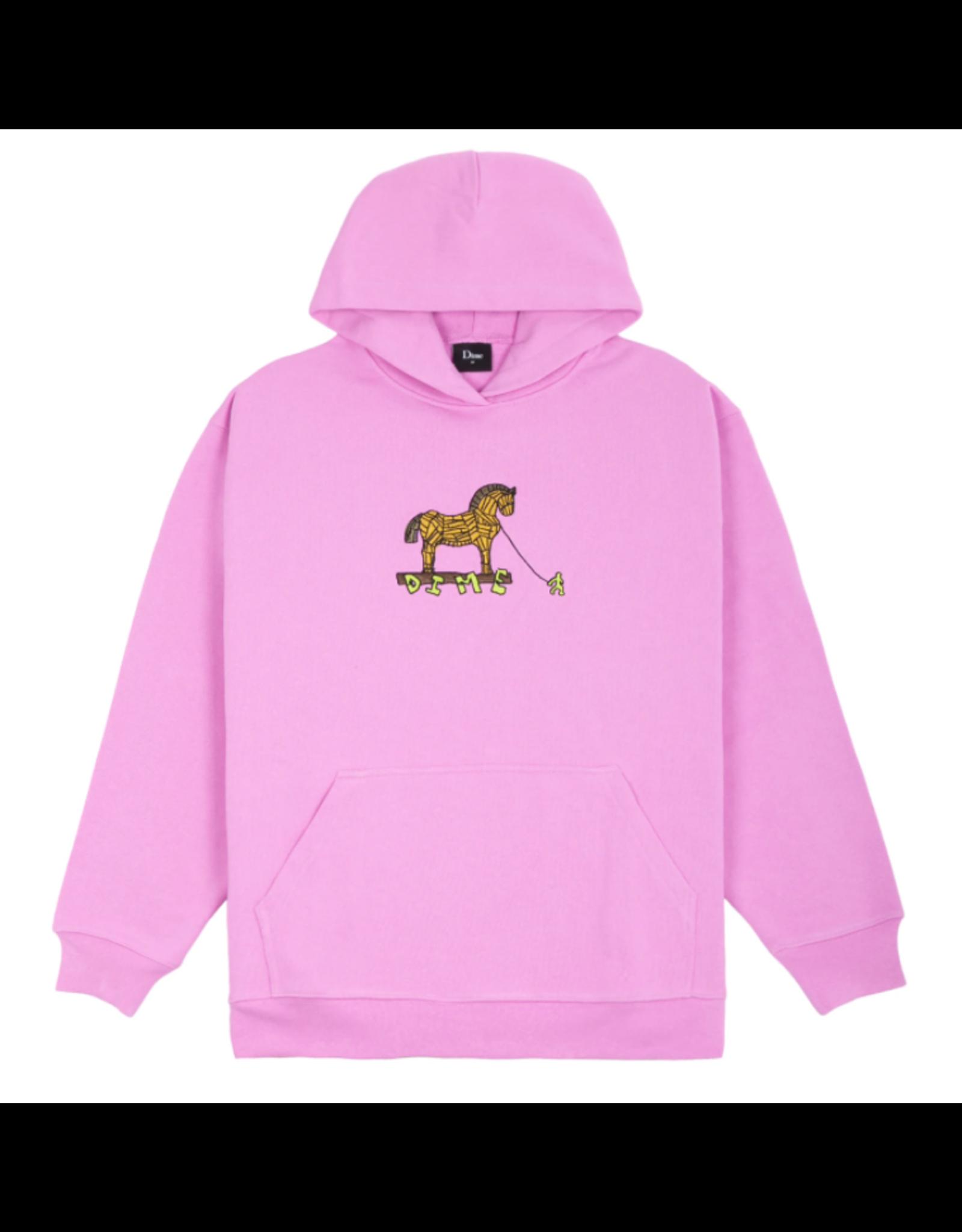 Dime Trojan Hoodie - Light Pink