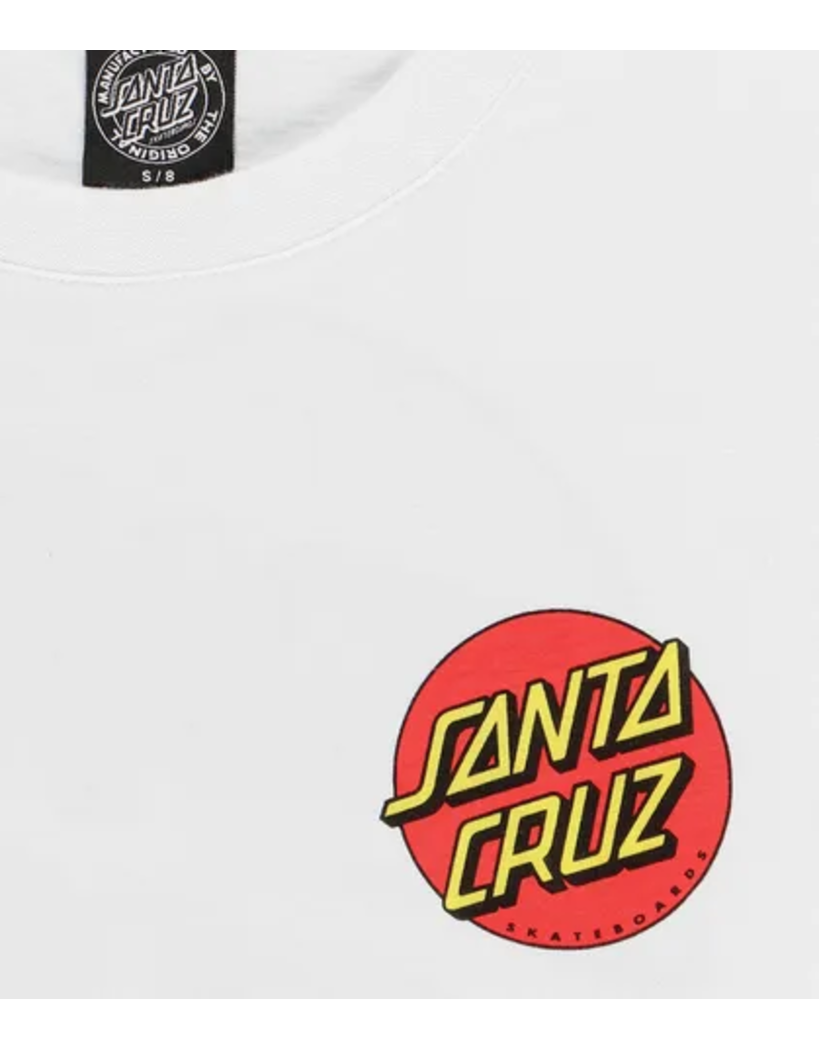 Santa Cruz Classic Chest Dot T-Shirt - White