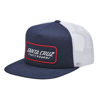 Mesh Trucker Strip Cap - Navy/White