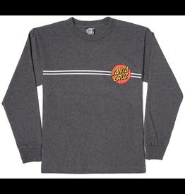 Santa Cruz Youth Classic Dot Longsleeve - Grey