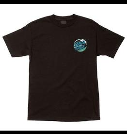 Santa Cruz Youth Wave Dot T-Shirt - Black