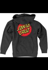 Santa Cruz Youth Classic Dot Hood - Charcoal
