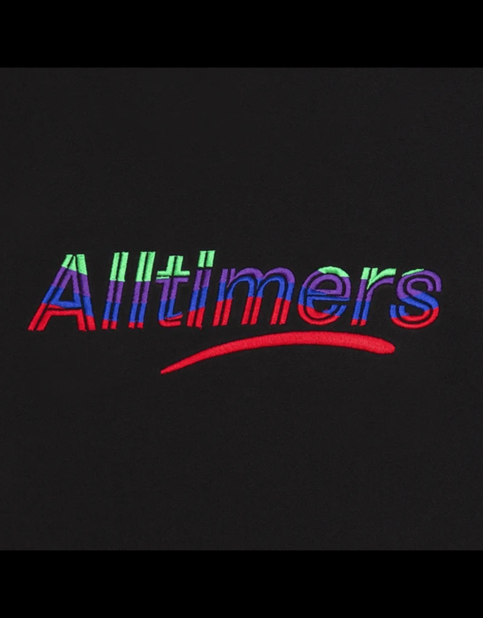Alltimers Embroidered Wave Estate Hoody - Black