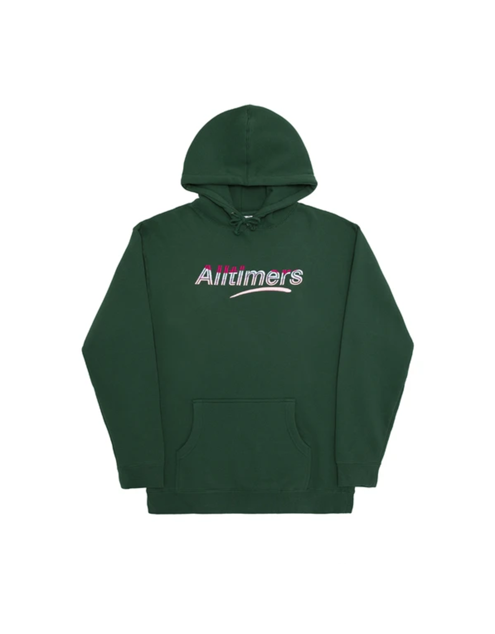 Alltimers Embroidered Wave Estate Hoody - Dark Green