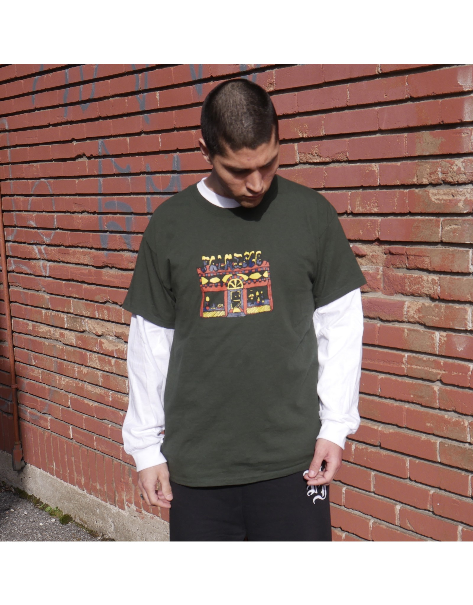 Palm Isle Store Front Tee - Forest