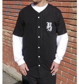 Palm Isle Stamp Baseball Shirt - Black