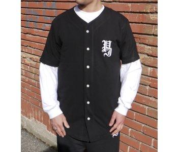 Stamp Baseball Shirt - Black