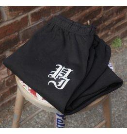 Palm Isle Stamp Sweatpants - Black
