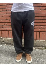 Palm Isle Crest Embroidered Sweatpants - Black