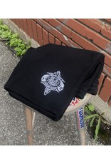 Palm Isle Crest Embroidered Shorts - Black