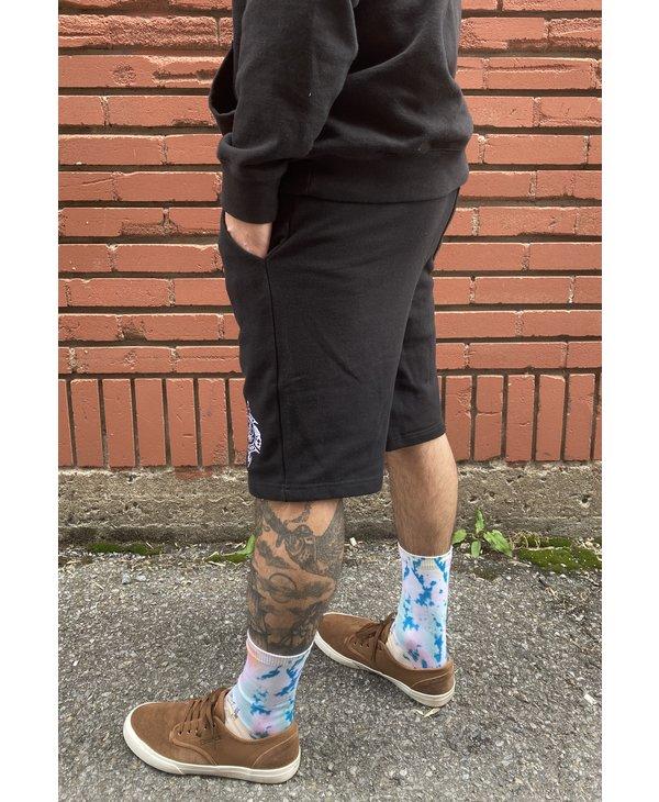 Crest Embroidered Shorts - Black