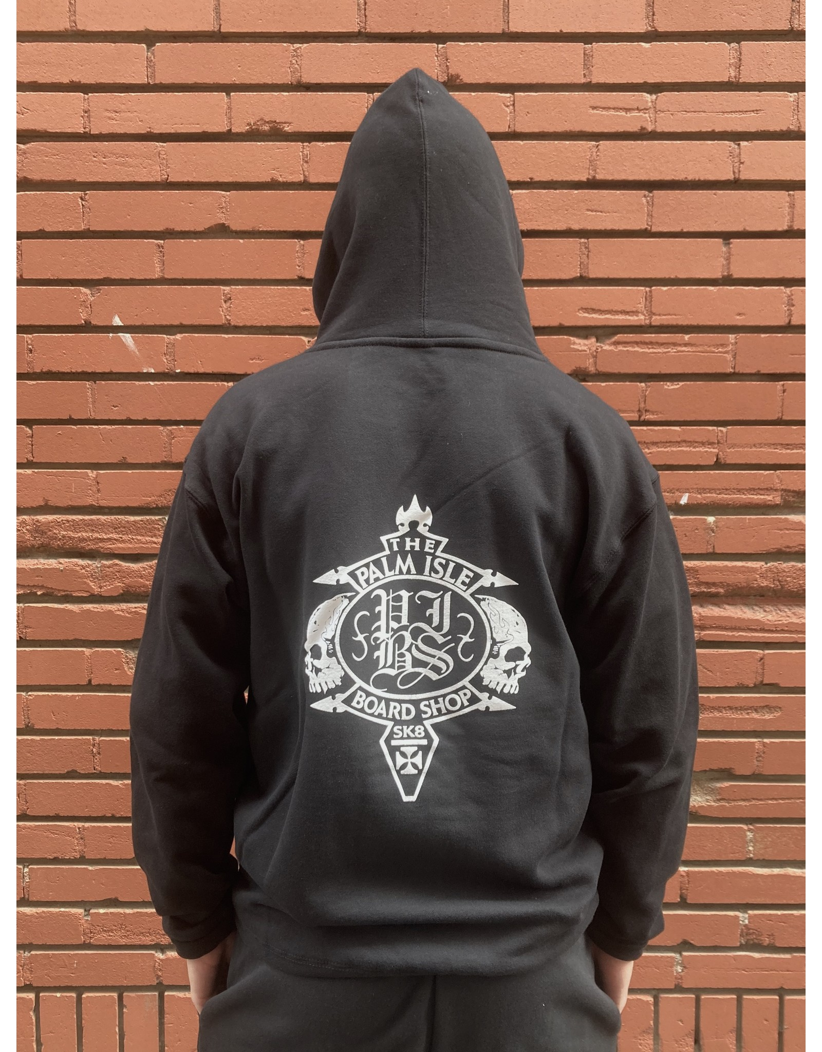 Palm Isle Crest Hood - Black
