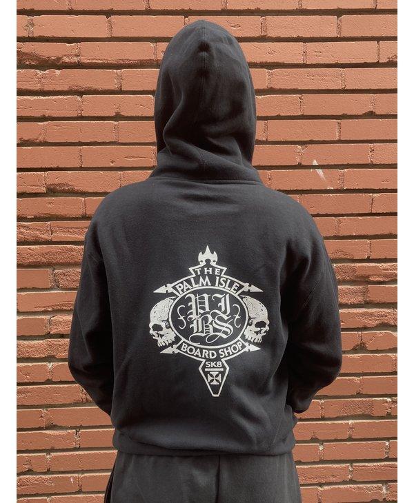 Crest Zip-Hood - Black