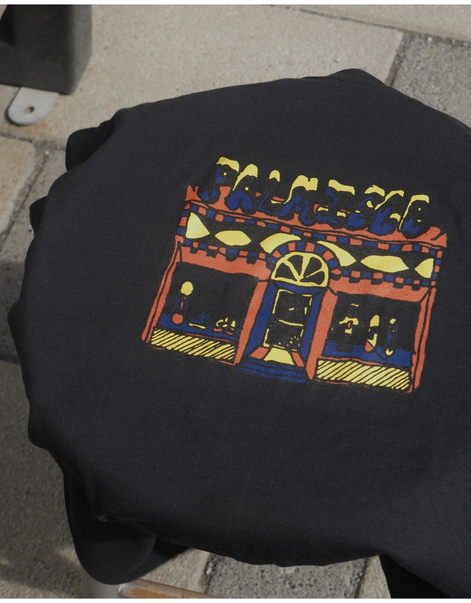 Palm Isle Store Front Tee - Black