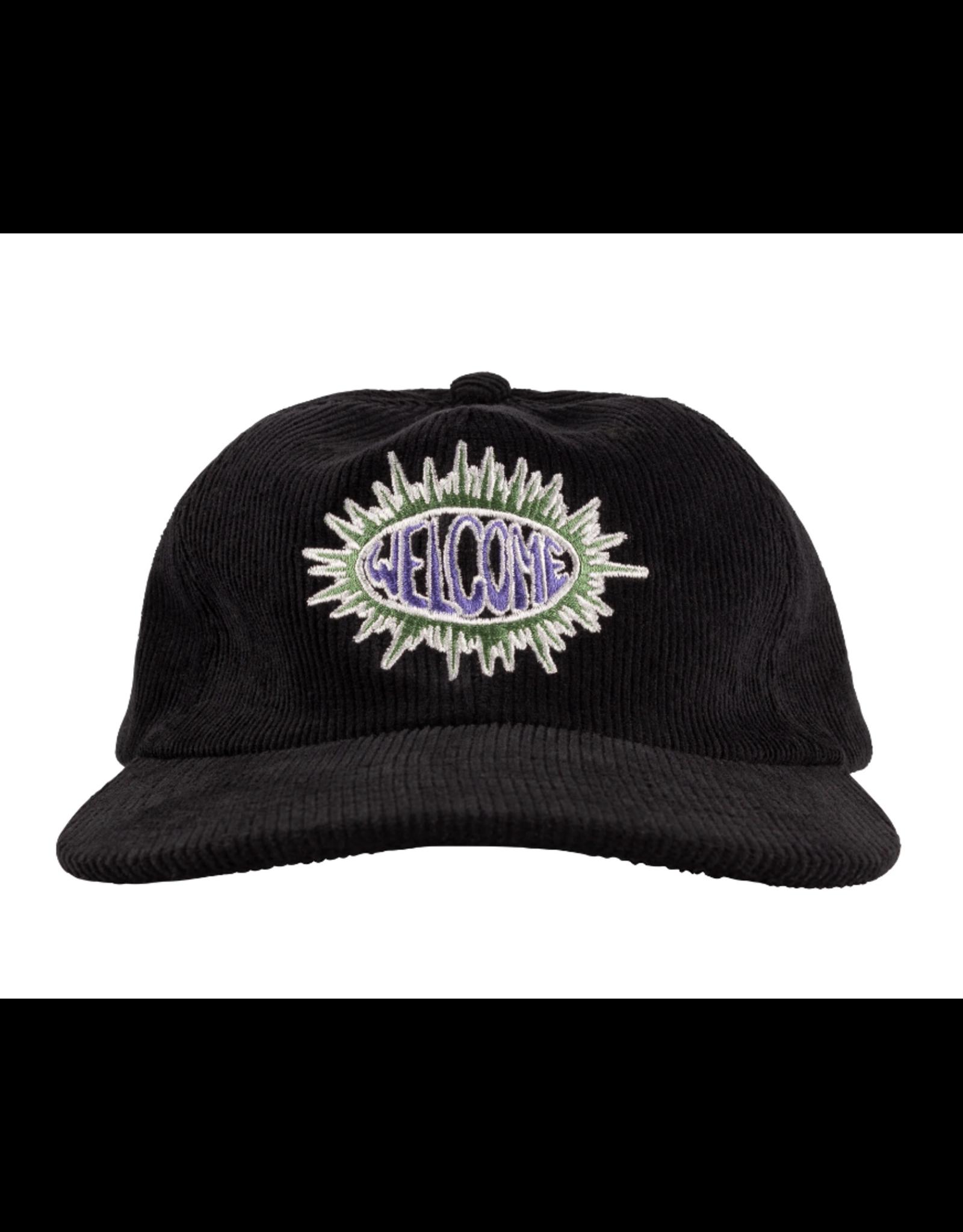 Welcome Burst Corduroy Hat - Black