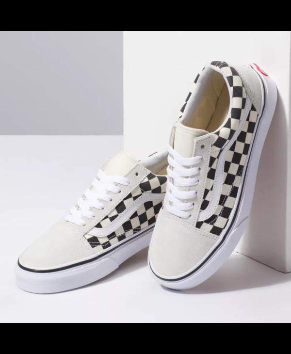 Old Skool - Checkerboard White