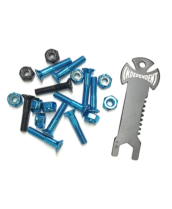 """Countersunk Hardware 1"""" With Tool - Blue/Black"""