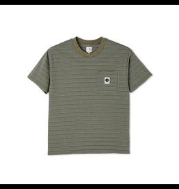 Polar Stripe Pocket Tee - Army Green
