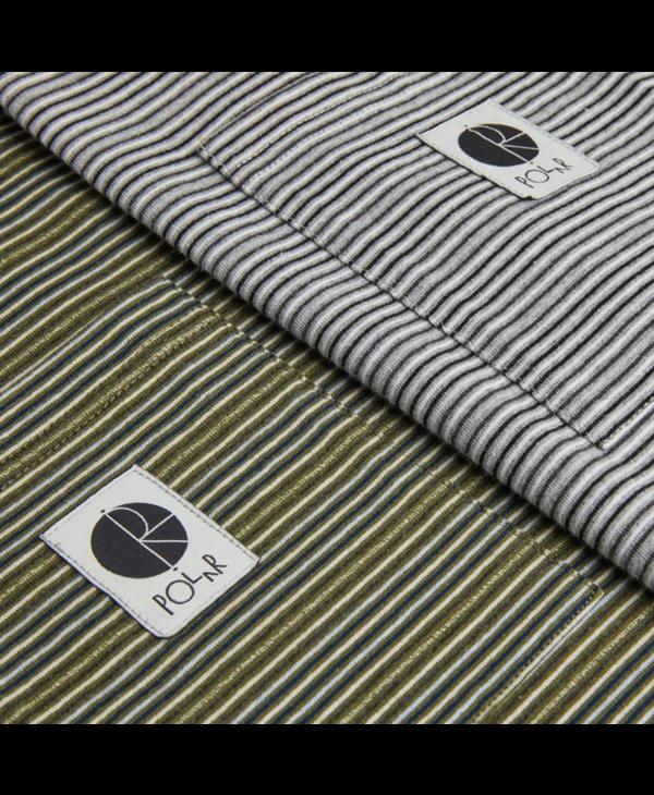 Stripe Pocket Tee - Army Green