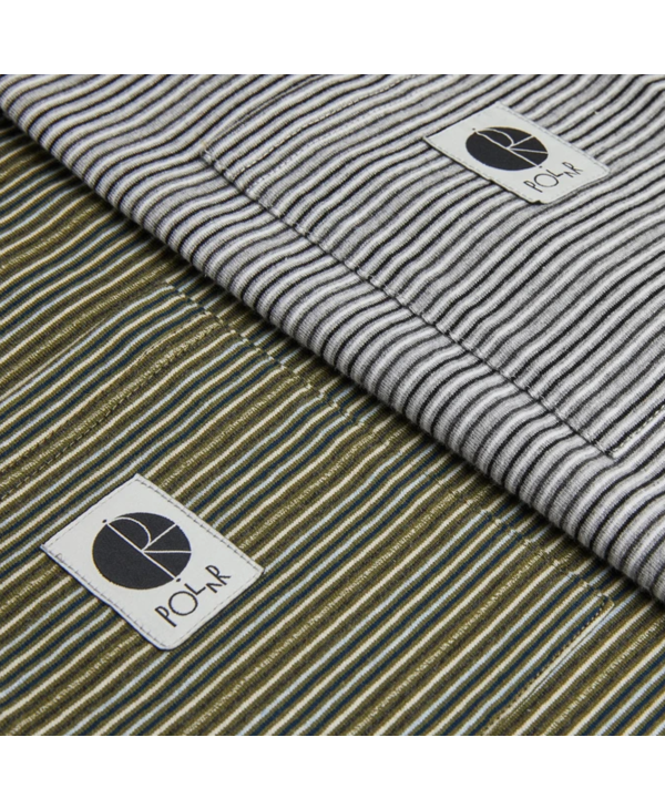Stripe Pocket Tee - Grey