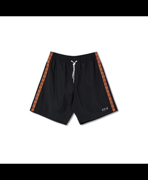 Square Stripe City/Swim Shorts - Black