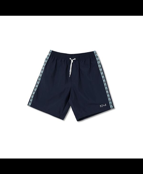 Square Stripe City/Swim Shorts - Navy