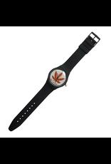 Skate Mental Pizza Leaf Watch - Black