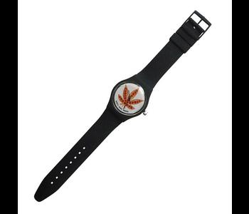 Pizza Leaf Watch - Black