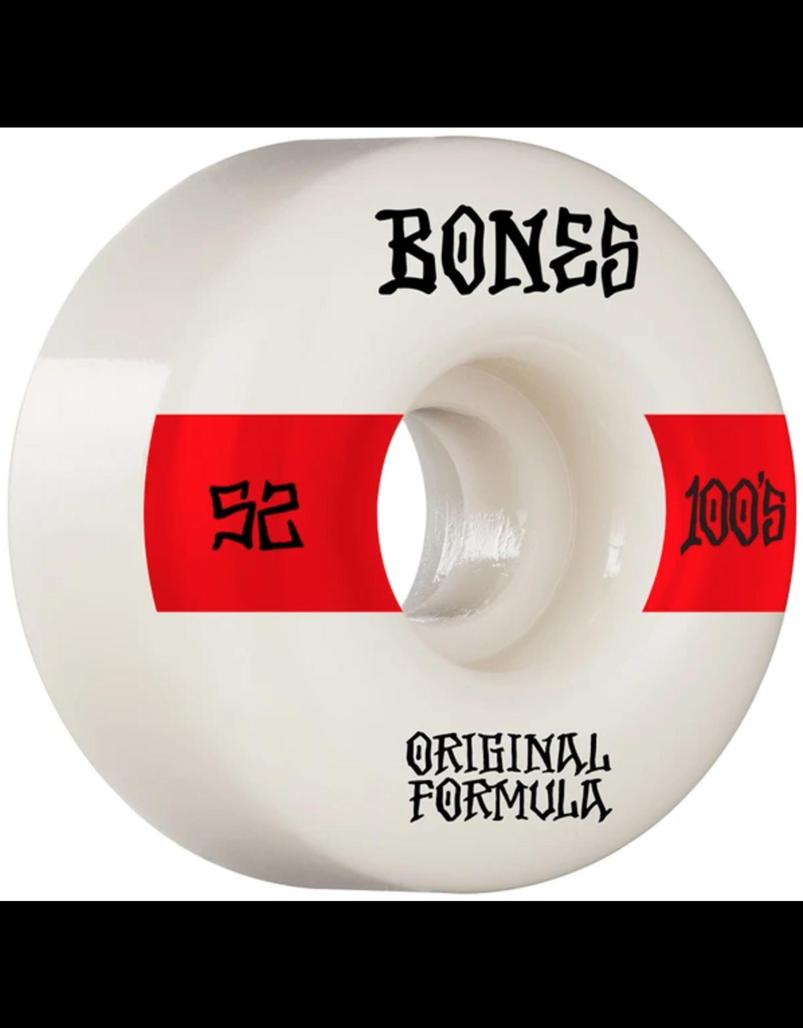 Bones Price Point V4 Wides 100's - Various Sizes white