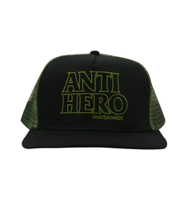 AntiHero Black Hero Outline Snapback - Black/Olive
