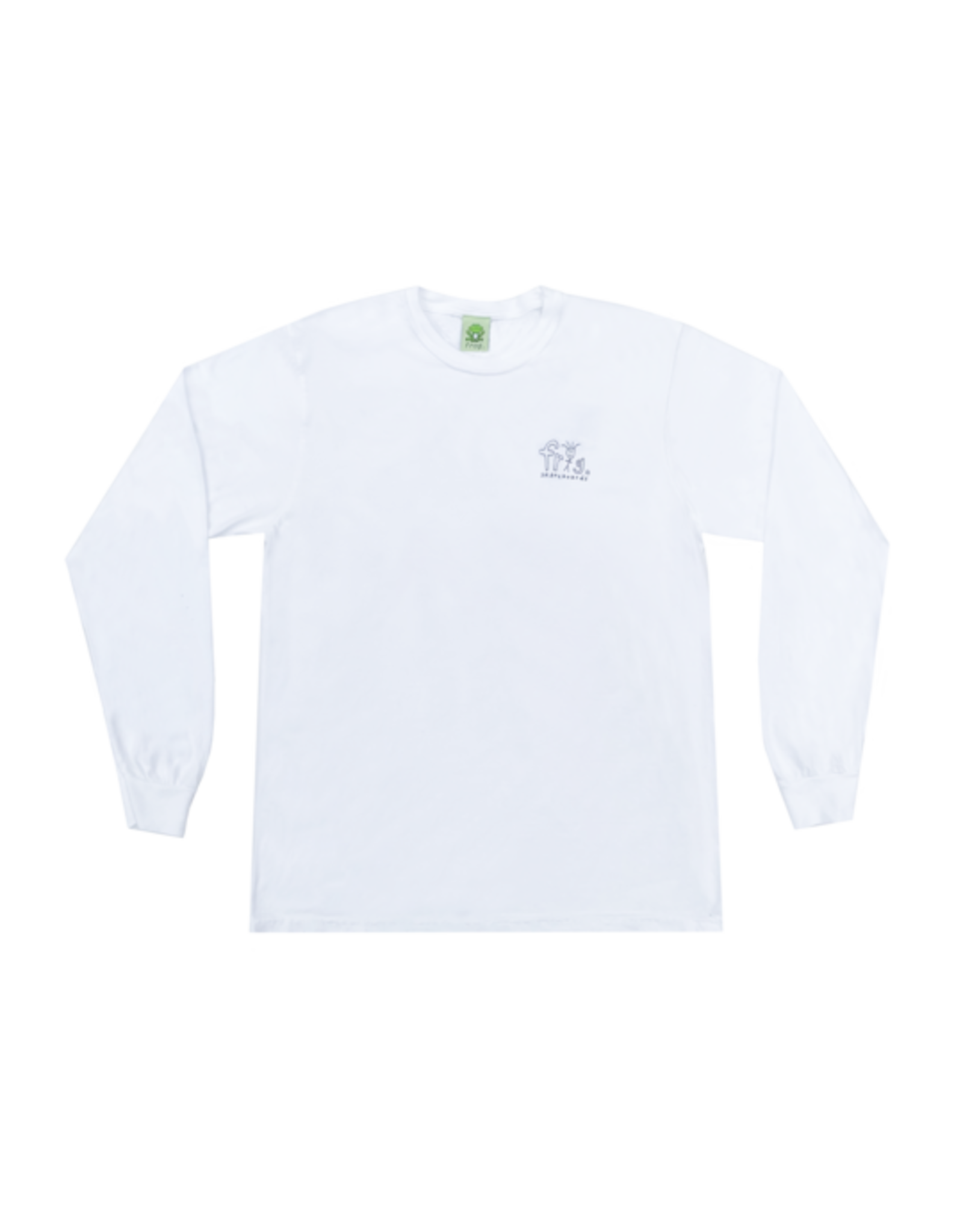 Frog Man Logo Longsleeve - White