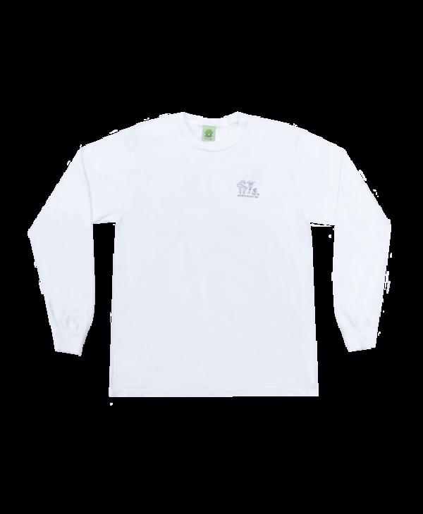 Man Logo Longsleeve - White