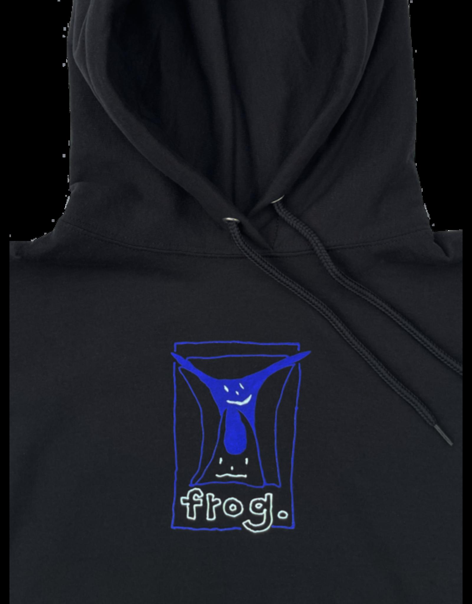 Frog Jumpy Punk Logo Hoodie - Black