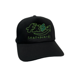 Frog Dino Logo 5-Panel - Black