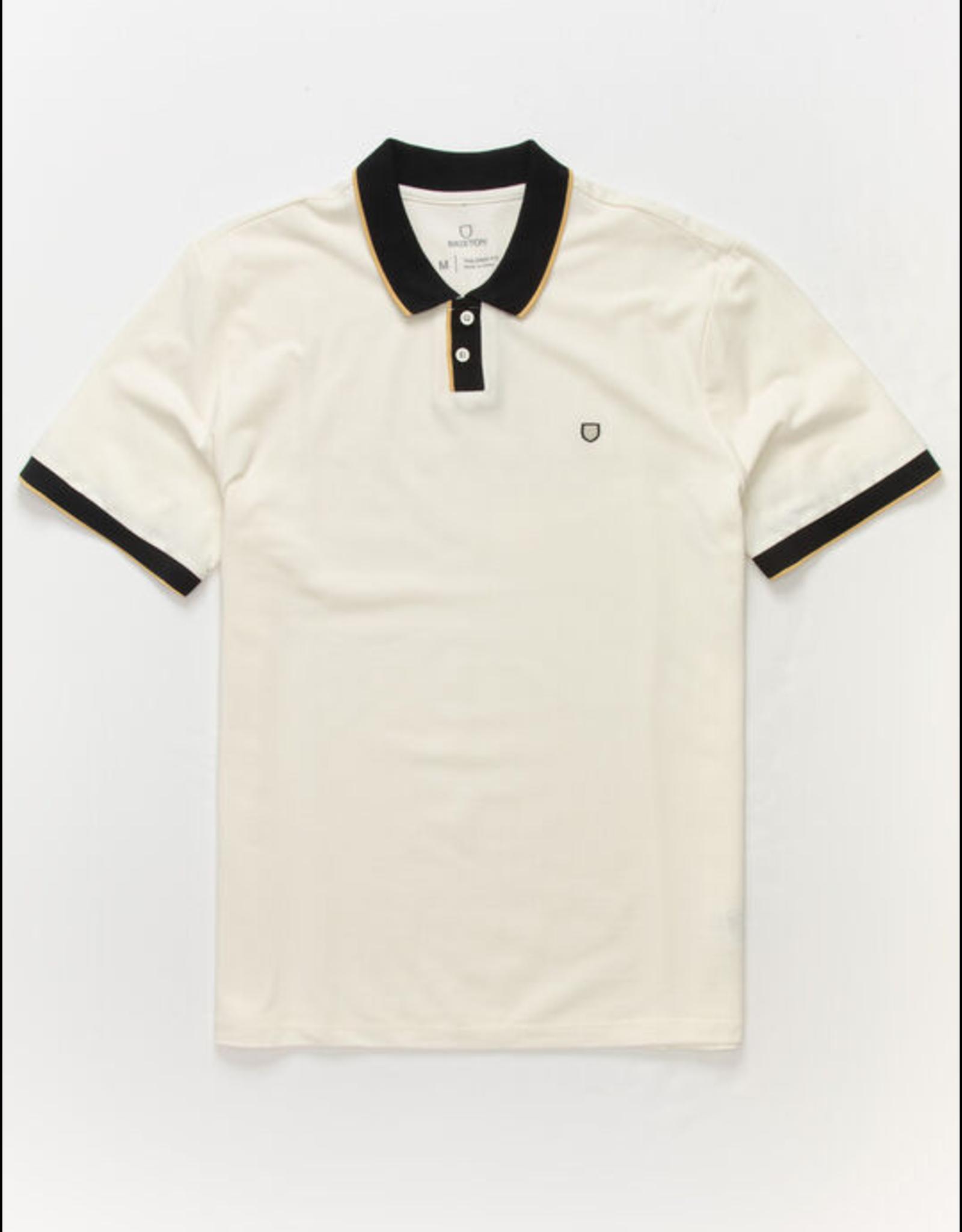 Brixton Proper S/S Jersey Polo Knit - Off White/Black