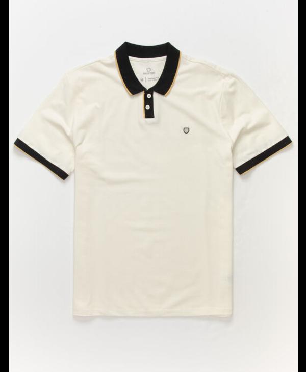 Proper S/S Jersey Polo Knit - Off White/Black