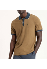 Brixton Proper S/S Jersey Polo Knit - Olive/Washed Navy