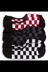 Vans Classic Super No Show Socks 3 Pack - Red/White Check