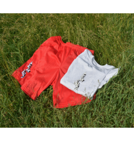 Palm Isle Baltimore Embroidered Short - Scarlett Red