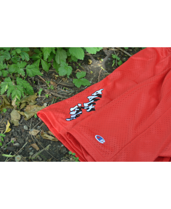 Baltimore Embroidered Mesh Shorts - Scarlett Red