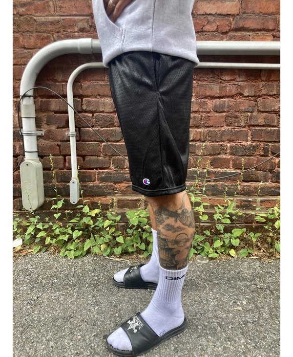 Baltimore Embroidered Mesh Shorts - Black