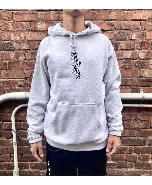 Baltimore Embroidered Hood - Ash