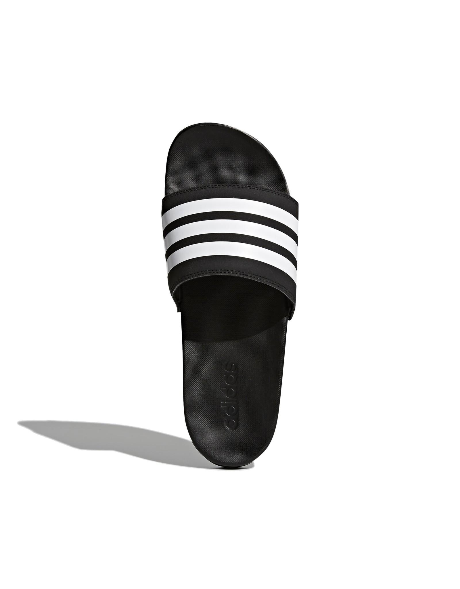 Adidas Adilette Comfort Slides - Black/White