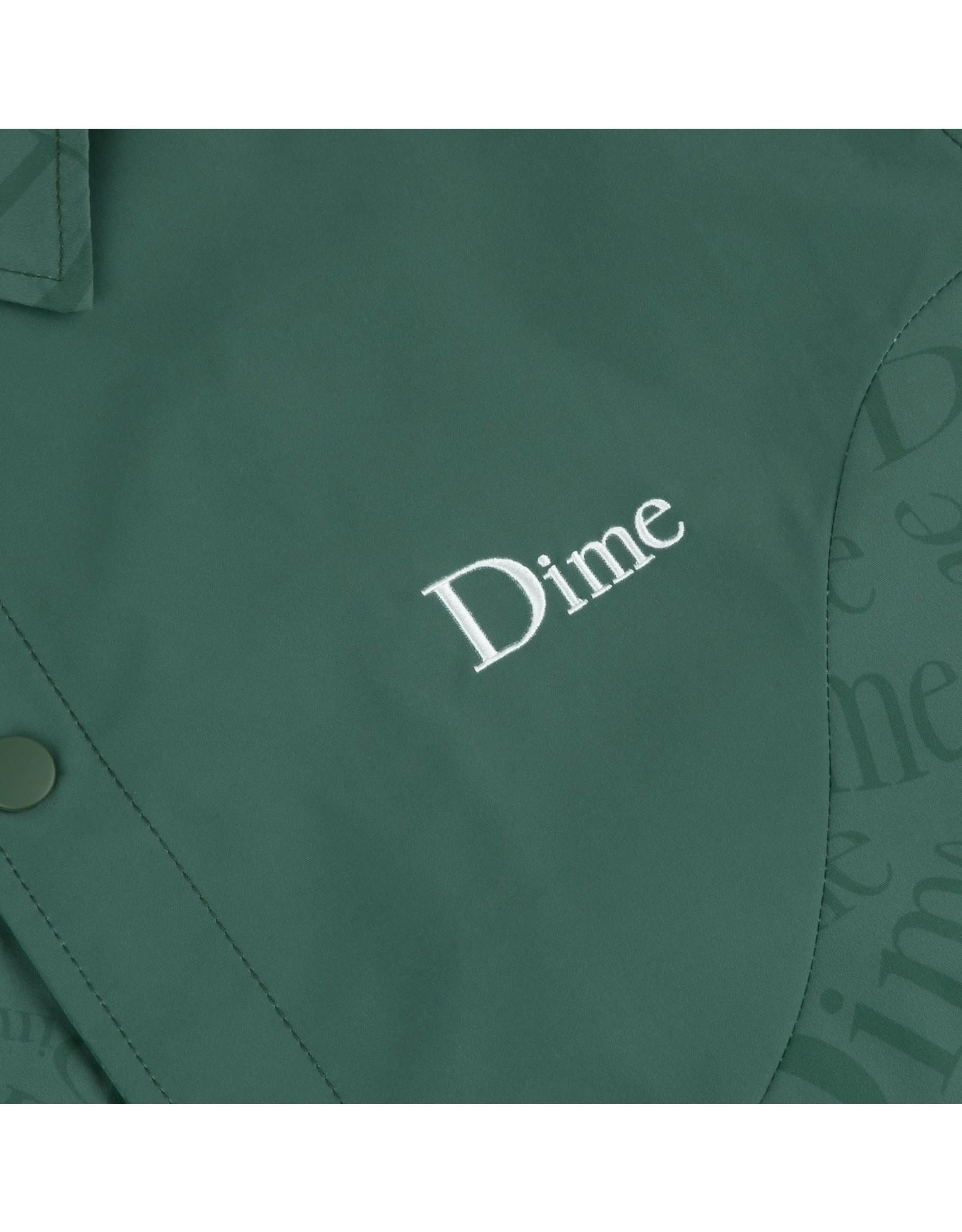 Dime Allover Coach Jacket - Dark Green