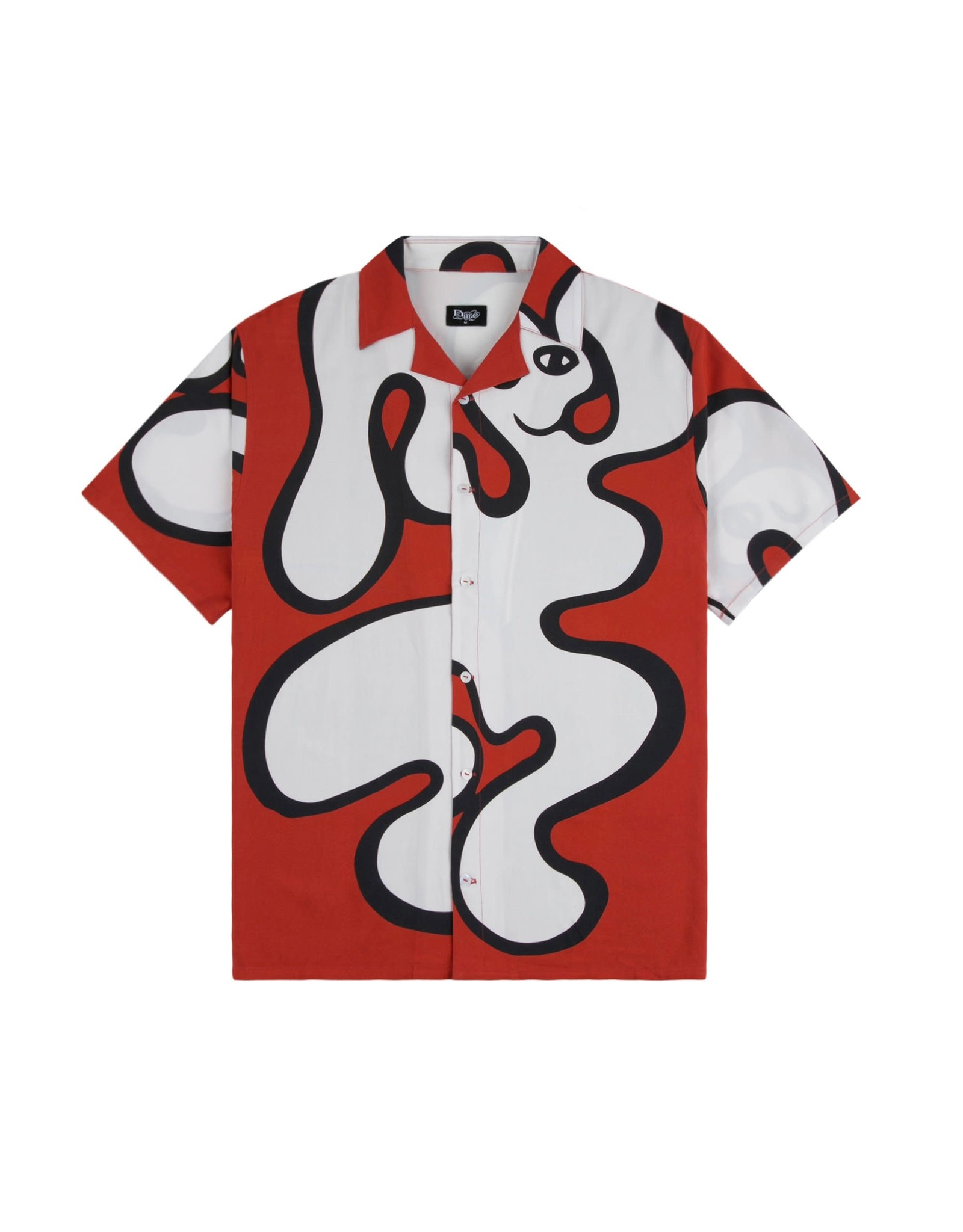 Dime Chilling Rayon Shirt - Red