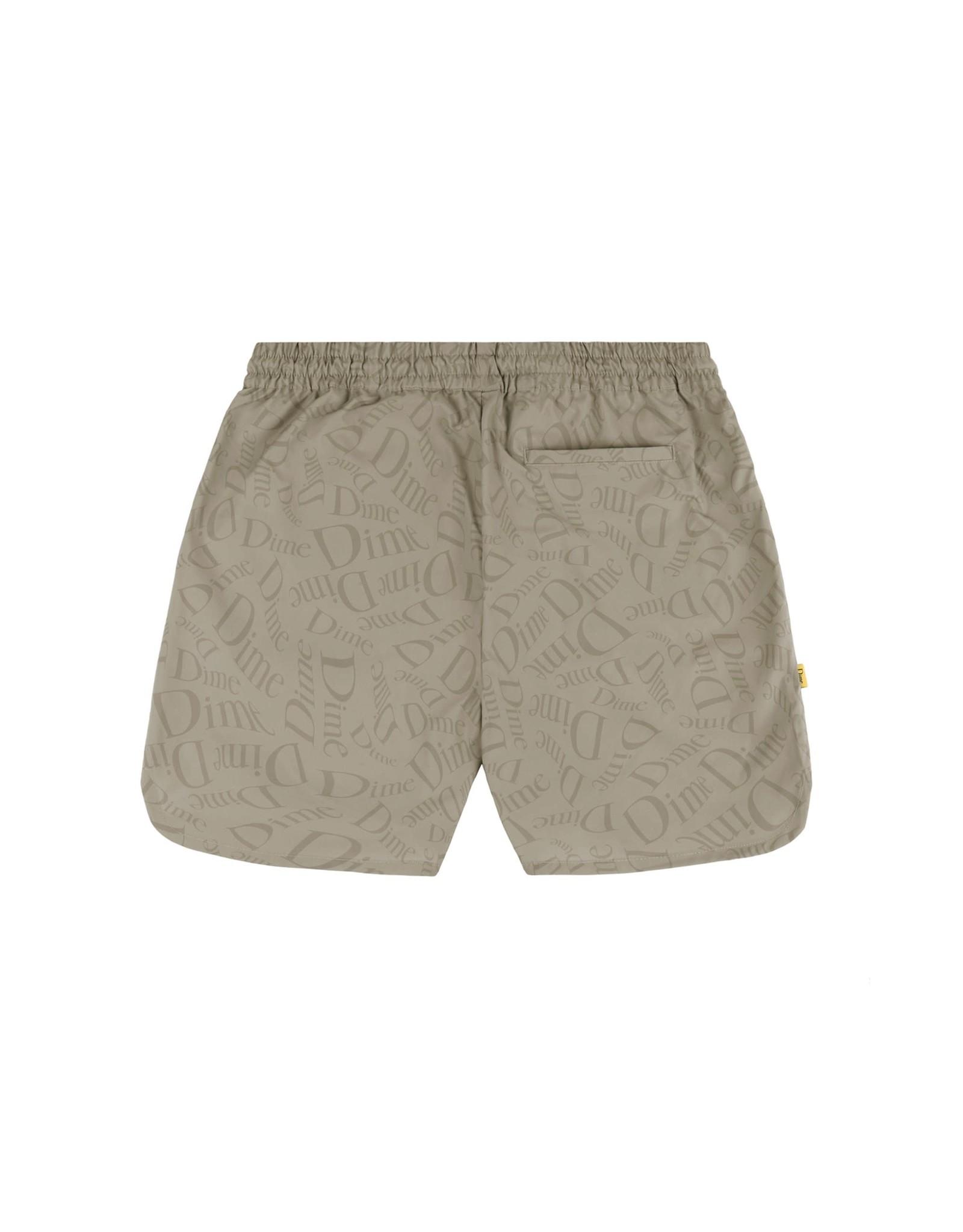 Dime Allover Shorts - Tan