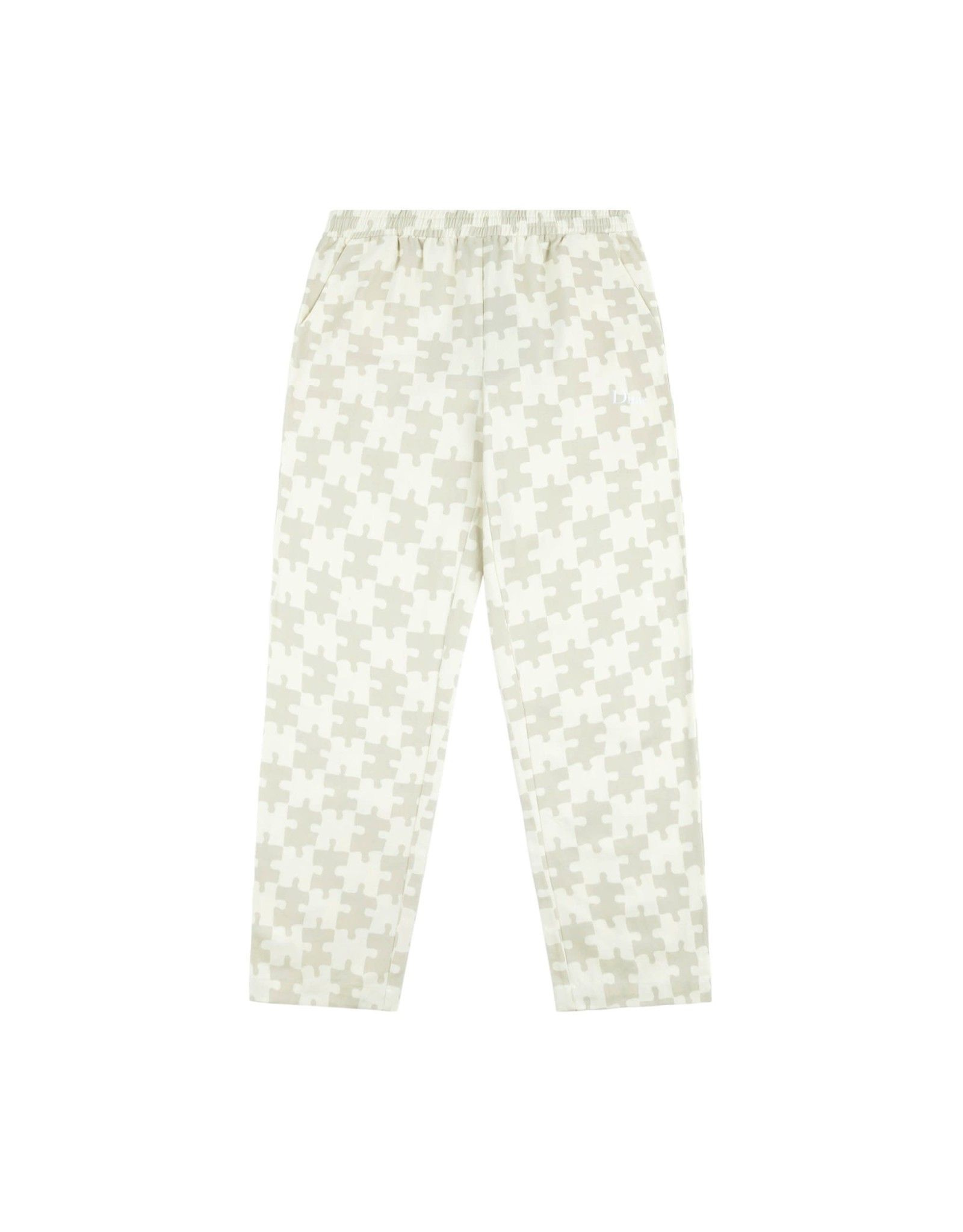 Dime Puzzle Twill Pants - Cream