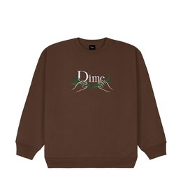 Dime Classic Grass Crewneck - Stray Brown