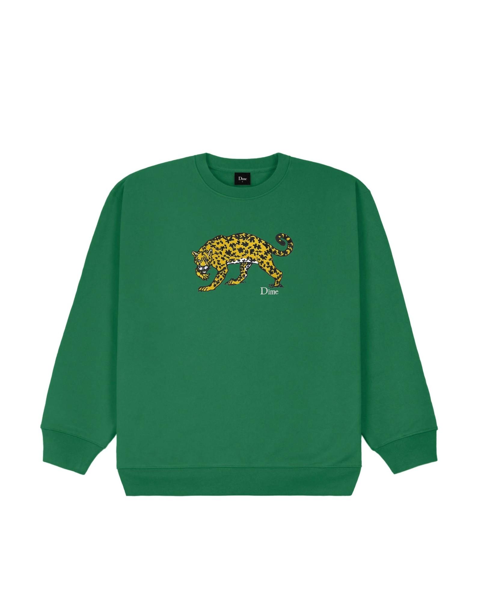 Dime Puzzle Cat Crewneck - Green