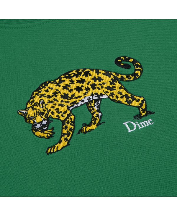 Puzzle Cat Crewneck - Green